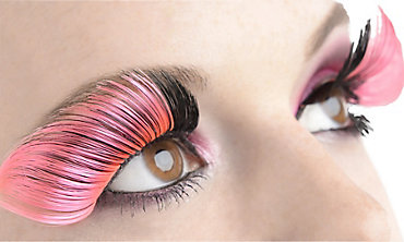 Long Pink False Eyelashes