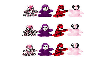 Valentines Day Mini Plush Animals 12ct