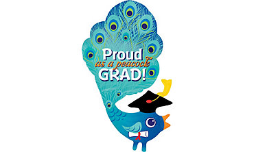 Foil Proud As A Peacock Graduation Balloon 44in