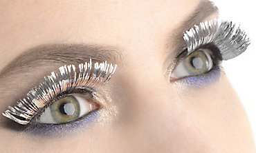 Self-Adhesive Silver Tinsel False Eyelashes
