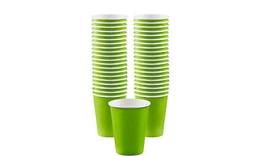 BOGO Kiwi Green Paper Coffee Cups 40ct