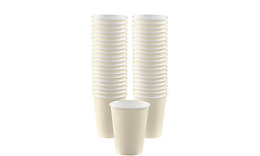Vanilla Paper Coffee Cups 40ct