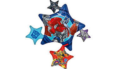 Foil Star Transformers Balloon 36in