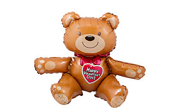 Valentine's Day Balloon - Teddy Bear