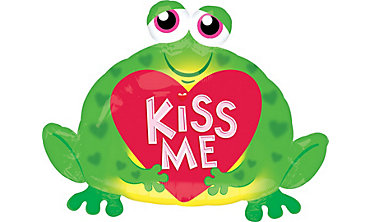 Valentine's Day Balloon - Kiss Me Frog
