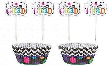 Dream Big Graduation Cupcake Decorating Kit For 24
