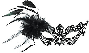 Black Filigree Masquerade Mask