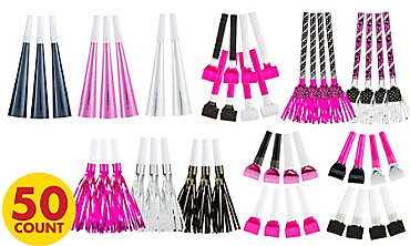 Black & Pink Horns & Blowouts 50ct