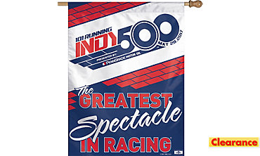 Indy 500 Vertical Flag