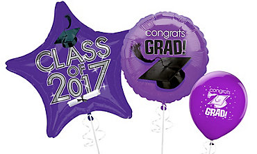 Purple Graduation Balloons