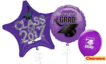 Purple Graduation Balloons