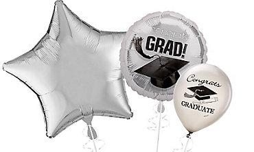 Silver Graduation Balloons