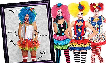 Sassy Clown Mix & Match Women's Looks
