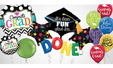 Colorful Brights Graduation Balloons