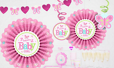 girls baby shower decorations - Party City Decorations