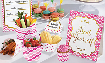 Pink Mini Tasting Party Supplies