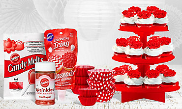 Red Baking Supplies