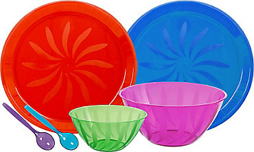 Color Serving Trays, Bowls & Utensils