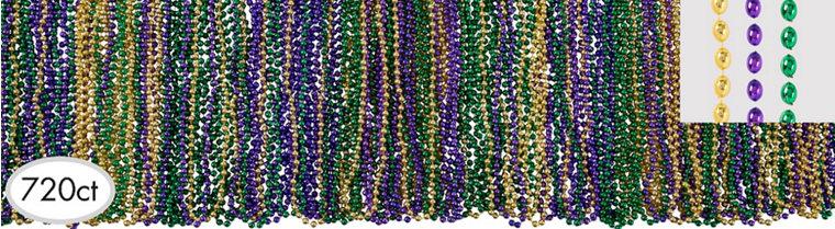 Classic Mardi Gras Bead Necklaces 720ct