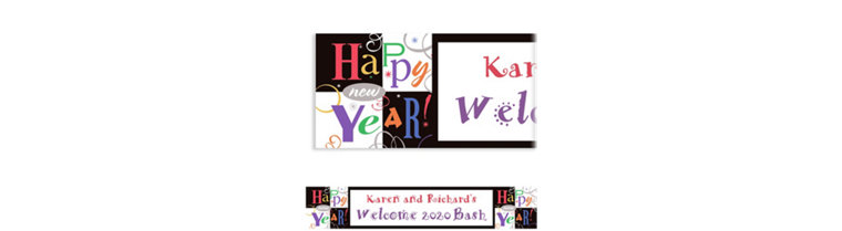 Custom Festive New Year Banner