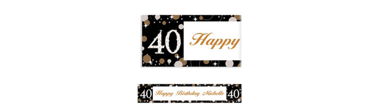 Custom Sparkling Celebration 40 Banner