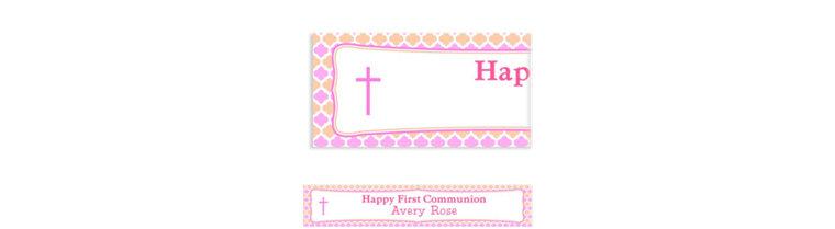 Custom Simple Cross and Diamonds Banner