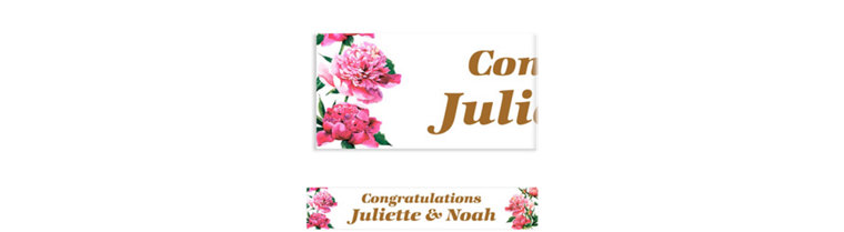 Custom Delicious Bouquet Banner