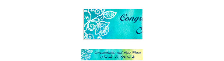 Custom Ombre Floral Cool Banner