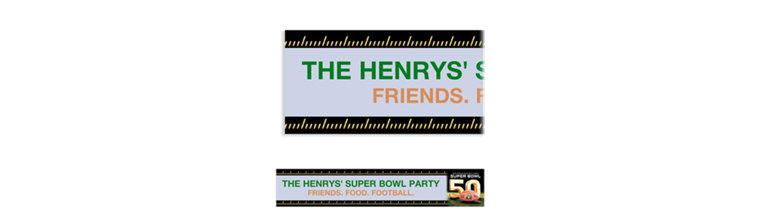 Custom Super Bowl 50 Banner