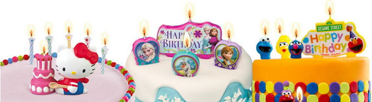 Girls Character Candles