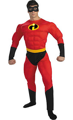 Adult Mr. Incredible Muscle Costume - The Incredibles