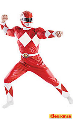 Adult Red Ranger Muscle Costume - Power Rangers