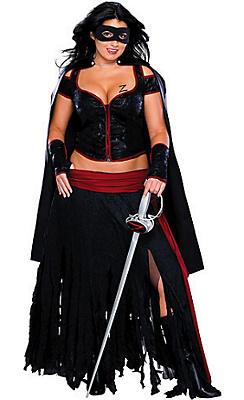 Adult Lady Zorro Costume Plus Size