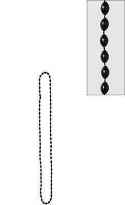 Metallic Black Bead Necklace