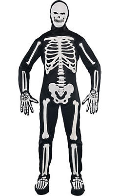 Adult Frightening Bones Skeleton Costume
