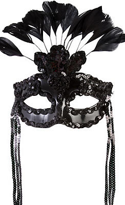 After Dark Feather Masquerade Mask