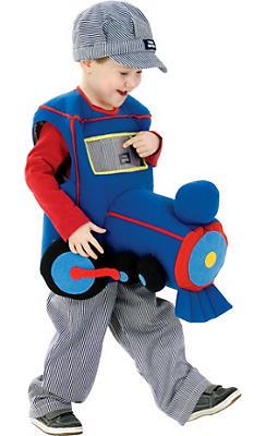Toddler Boys Plush Ride in Train Costume