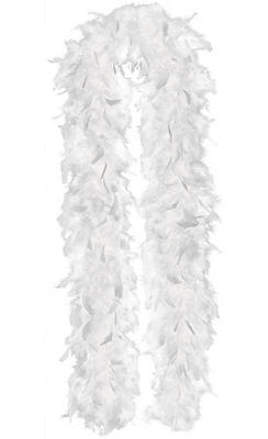 White Feathered Boa 72in