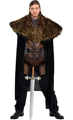 Adult Medieval Furry Shoulder Cape