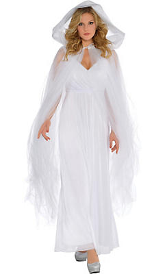 Illuminated Temptress White Hooded Cape