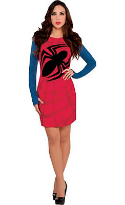 Spider-Girl Web Long-Sleeve Dress