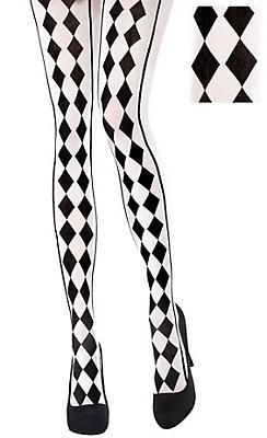 Black & White Harlequin Tights