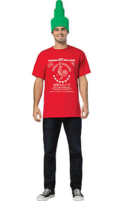 Sriracha T-Shirt Costume Kit 2pc