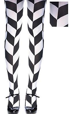 Black & White Herringbone Tights