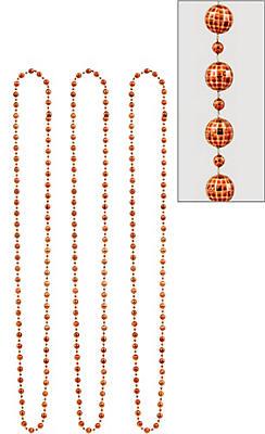 Orange Disco Bead Necklaces 3ct