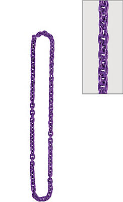 Purple Chain Link Necklace