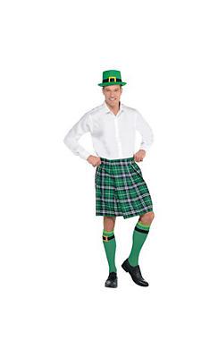 Adult Plaid St. Patrick's Day Kilt Costume