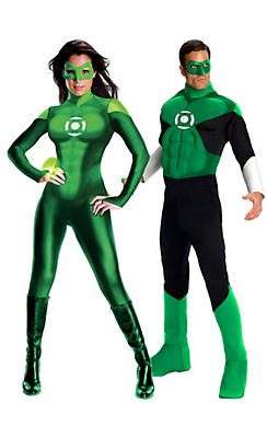 Adult Green Lantern Couples Costumes