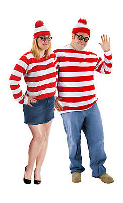 Plus Size Where's Waldo Couples Costumes