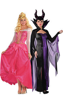 Adult Maleficent & Aurora Couples Costumes Couture - Sleeping Beauty